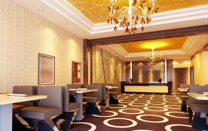 高档酒店餐厅装修效果图-装修效果图