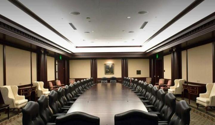 大型会议室装修效果图-装修效果图