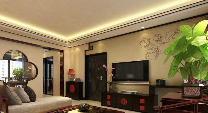 新中式三室两厅两卫-装修效果图