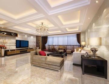 大户型 200㎡ 现代简约 客厅 - 装修案例效果图封面