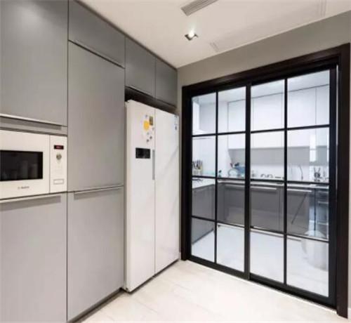厨房装修优点之玻璃门,使用哪种厨房玻璃门好