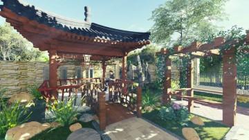 中式别墅 - 装修案例效果图封面